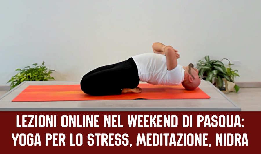 weekend di pasqua lezioni di yoga e meditazione online